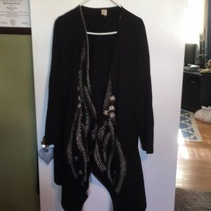 XCVI black duster with design
